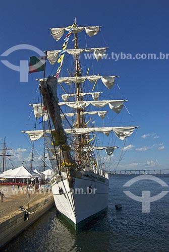 Assunto: Vista da proa do veleiro mexicano Cuauhtémoc durante exposição de Grandes Veleiros, no Píer Mauá  / Local:  Rio de Janeiro - RJ - Brasil  / Data: Fev. 2010