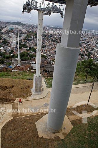 Assunto: Construção do teleférico que será responsável pela ligação das 12 comunidades do Complexo do Alemão - Programa de Aceleração do Crescimento - PAC - Complexo do Alemão  / Local:  Rio de Janeiro - RJ - Brasil  / Data: 20/05/2010