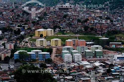 Assunto: Conjunto Habitacional Poesi do Programa de Aceleração do Crescimento - PAC - Complexo do Alemão  / Local:  Rio de Janeiro - RJ - Brasil  / Data: 20/05/2010