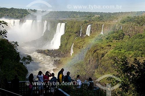 Assunto: Plataforma de observação para visitantes no Parque Nacional do Iguaçu - o parque foi declarado Patrimônio Natural da Humanidade pela UNESCO  / Local: Foz do Iguaçu - PR - Brasil  / Data: 07/06/2009