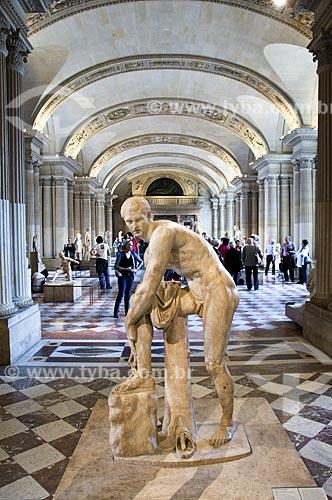 Assunto: Galeria das Cariátides no Museu do Louvre / Local: Paris -  França / Data: 14/09/2009Salle des Caryatides, Louvre Museum interior, Paris, France.