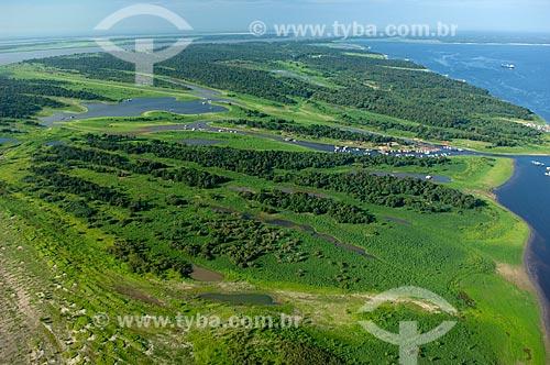 Assunto: Vista aérea da Ilha do Careiro  / Local:  Amazonas (AM) - Brasil  / Data: 11/2007