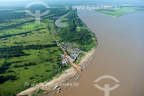 Assunto: Vista aérea do município de Careiro da Várzea, na margem direita do Rio Amazonas  / Local:  Amazonas (AM) - Brasil  / Data: