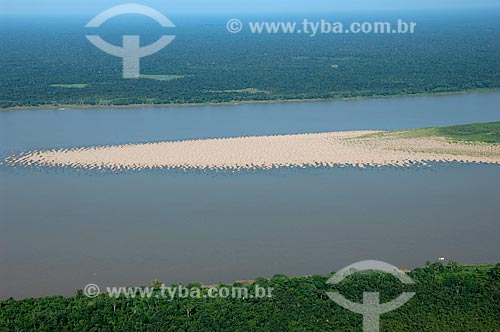 Assunto: Vista aérea do Rio Madeira  / Local:  Amazonas (AM) - Brasil  / Data: 03/11/2007