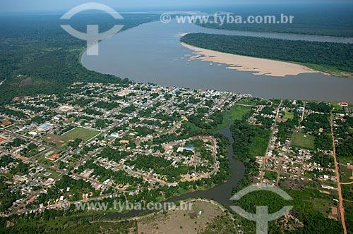 Assunto: Vista aérea da Cidade de Borba, na margem direita do rio Madeira  / Local:  Amazonas (AM) - Brasil  / Data: 11/2007