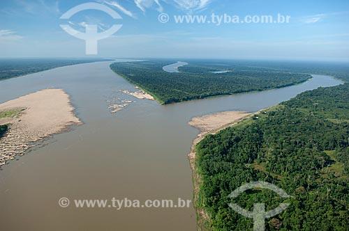 Assunto: Vista aérea da Várzea do rio Madeira  / Local:  Município de Borba - Amazonas (AM) - Brasil  / Data: 11/2007