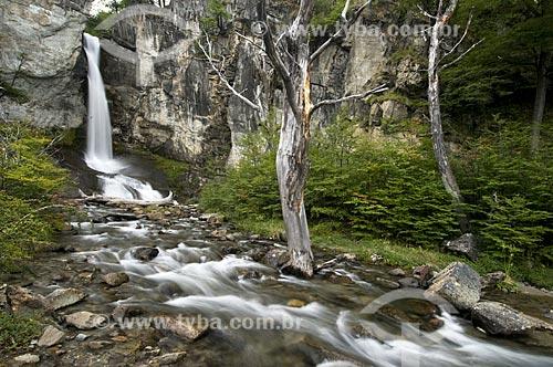 Assunto: Cachoeira Chorrillo del Salto no Parque Nacional Los Glaciares na cidade El Chalten - o parque foi declarado Patrimônio da Humanidade pela UNESCO em 1981  / Local:  Patagônia - Argentina  / Data: 24/02/2010