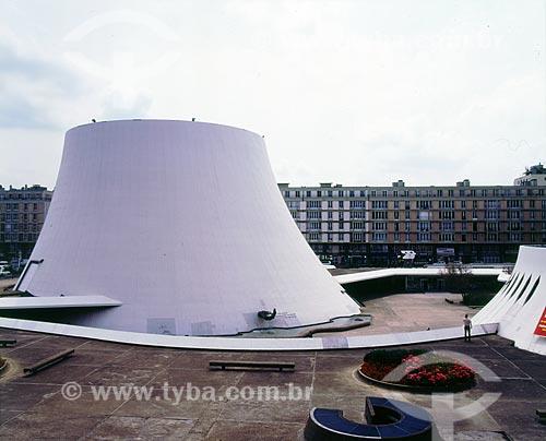Assunto: Centro Cultural Le Havre também conhecido como Le Volcan - Projeto de Oscar Niemeyer  / Local:  Le Havre - França - Europa  / Data: 2009