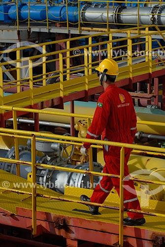Assunto: Refeitório do navio-plataforma de petróleo FPSO Fluminense da Shell  / Local:  Bacia de Campos - RJ - Brasil  / Data: 06/2010