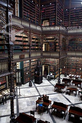 Assunto: Interior do Real Gabinete Português de Leitura  / Local:  Rio de Janeiro - RJ - Brasil  / Data: 06/2010