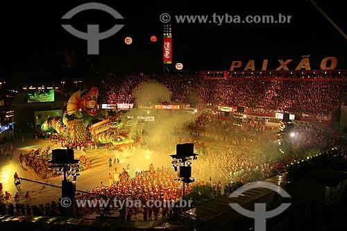 Assunto: Desfile do Boi Garantido no Festival do Boi Bumbá em Parintins  / Local:  Amazonas - AM - Brasil  / Data: 06/2010