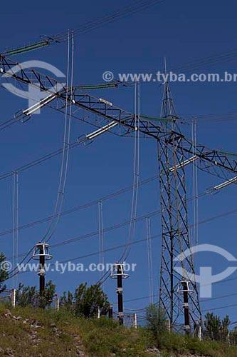 Assunto: Linhas de transmissão da Usina Hidrelétrica de Xingó no rio São Francisco - CHESF: Companhia Hidrelétrica do São Francisco.  / Local:  Xingó - Alto Sertão de Sergipe (SE) - Brasil  / Data: 07/2010