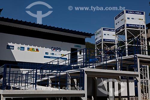 Assunto: Fachada da unidade de Pronto Atendimento da Rocinha (UPA) - Centro de Atenção Psicossocial - CAPS  / Local:  Rocinha - Rio de Janeiro - RJ  / Data: 08/2010