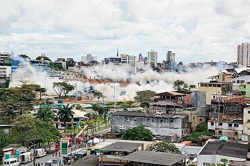 Assunto: Implosão do Estádio Fonte Nova  / Local:  Salvador - Bahia - BA - Brasil  / Data: 29/08/2010