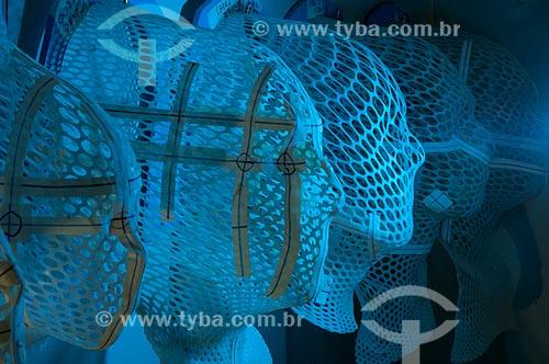Assunto: Máscaras de radioterapia no INCA - Instituto Nacional do Câncer  / Local:  Praça da Cruz Vermelha - Centro - Rio de Janeiro - RJ  / Data: 09/2010