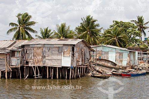 Assunto: Palafitas (casa de madeira precária sobre pilotis) em favela na Ilha de Deus  / Local:  Recife - Pernambuco  / Data: 14/10/2010