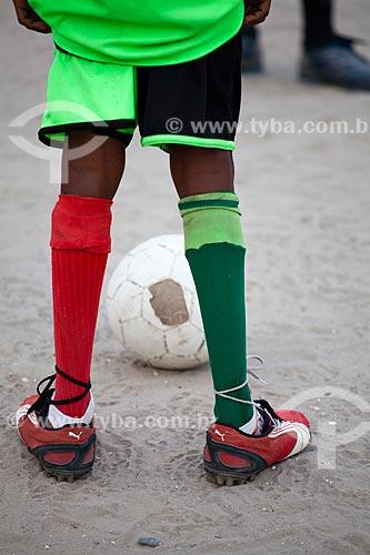 Assunto: Escola de futebol  -  Ilha de Deus  / Local:  Recife - Pernambuco  / Data: 14/10/2010