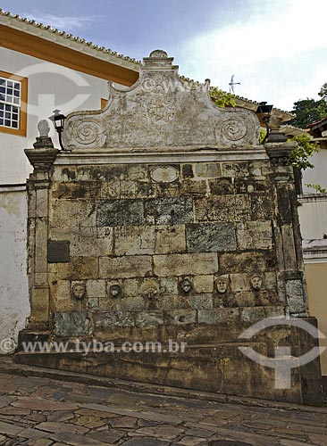 Assunto: Chafariz histórico  / Local:  Diamantina - Minas Gerais - MG - Brasil  / Data: 12/2009