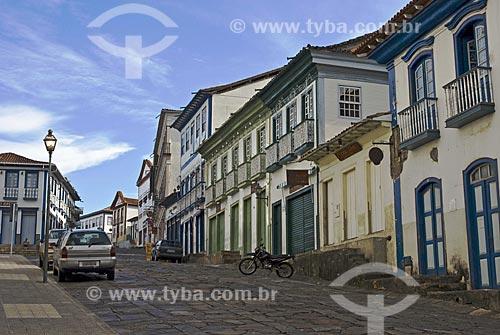 Assunto: Início da Rua Direita no Centro Histórico da cidade  / Local:  Diamantina - Minas Gerais - MG  / Data: 12/2009