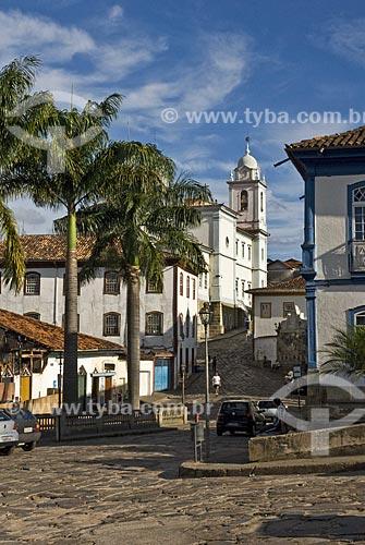 Assunto: Vista da Praça Juscelino Kubitschek para o Centro histórico com a Catedral ao fundo  / Local:  Diamantina - Minas Gerais - MG - Brasil  / Data: 12/2009