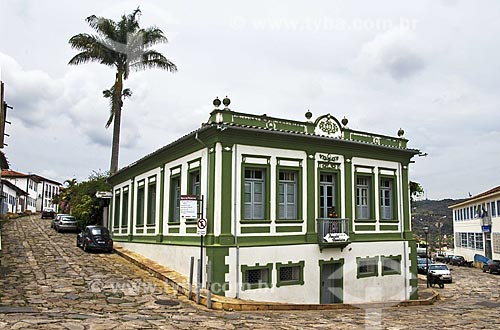 Assunto: Fachada de casarão histórico que funciona como pousada  / Local:  Diamantina - Minas Gerais - MG.  / Data: 12/2009