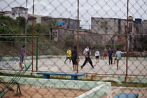Assunto: Futebol em Vila Laurita , área de lazer  / Local:  Guarulhos - São Paulo  / Data: /10/2010