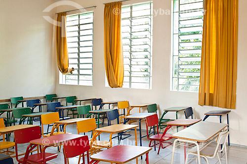 Assunto: Sala de aula na Escola de Educação Básica Professor Olavo Cecco Rigon / Local: Concórdia - Santa Catarina (SC) - Brasil / Data: 10/05/2010