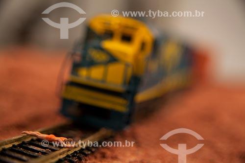 Assunto: Miniatura de Trem - Brinquedo  / Local:  Estúdio  / Data: 2010