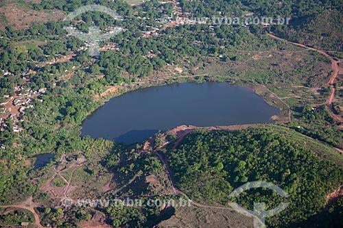 Assunto: Lagoa encobrindo a antiga mina de Serra Pelada, onde milhares de garimpeiros extraíram toneladas de ouro nos anos 80  / Local:  Serra Pelada - Pará  - Brasil  / Data: 27/10/2010