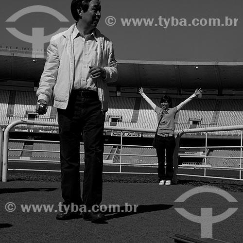 Assunto: Turistas em visita ao Estádio Jornalista Mário Filho - Maracanã  / Local:  Rio de Janeiro - RJ - Brazil  / Data: 06/2010