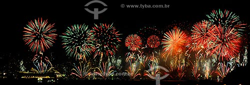 Assunto: Reveillon, fogos na praia de Copacabana, RJ. / Local: Praia de Copacabana - Rio de Janeiro (RJ) - Brasil / Data: 01/01/2010