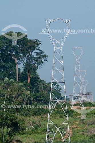 Assunto: Contrução de torres de linhas de transmissão elétrica na Área de Proteção Ambiental (APA) do Igarapé do Gelado  / Local:  próximo à cidade de Parauapebas - Pará  - Brasil  / Data: 10/2010