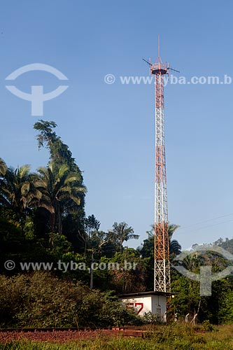 Assunto: Construção de antena na Área de Proteção Ambiental (APA) do Igarapé do Gelado  / Local:  próximo à cidade de Parauapebas - Pará  - Brasil  / Data: 10/2010