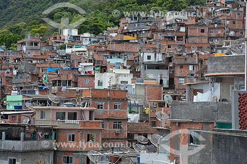 Assunto: Morro Santa Marta  / Local:  Botafogo - Rio de Janeiro - RJ - Brasil  / Data: 2011