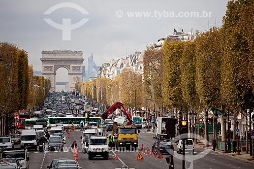 Assunto: Arco do Triunfo - Champs-elysées  / Local:  Paris - França  / Data: 11/2010