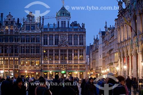 Assunto: Grand Place em Bruxelas à noite  / Local:  Bruxelas - Bélgica  / Data: 11/2010