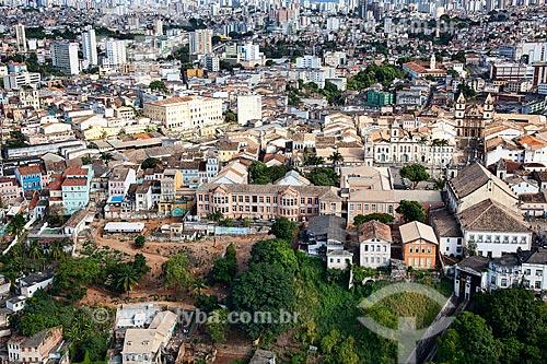 Assunto: Vista aérea geral do Plano Inclinado Gonçalves, atrás da Catedral Basílica da Sé, no Pelourinho  / Local:  Salvador - Bahia - BA  / Data: 01/2011