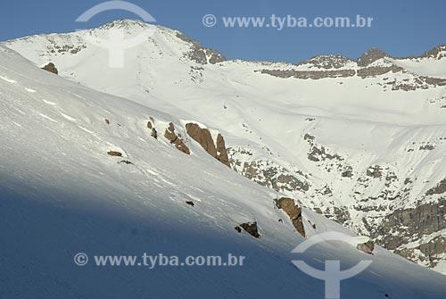 Assunto: Montanhas cobertas de neve  / Local:  Vale Nevado - Chile  / Data: 2008