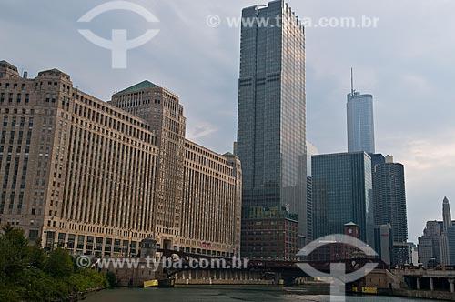 Assunto: Merchandise Mart Plaza e edifícios no centro de Chicago  / Local:  Chicago - Illinois - Estados Unidos da América - EUA  / Data: 09/2009
