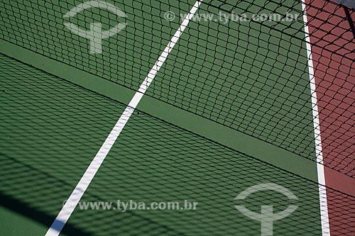 Assunto: Detalhe de quadra de tênis  / Local:  Rio de Janeiro - RJ  / Data: 02/2011