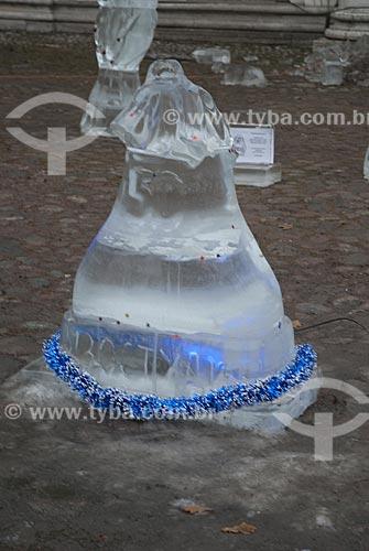 Assunto: Esculturas de Gelo nas ruas de São Petersburgo  / Local:  Rússia  / Data: 12/2007