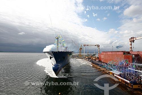 Assunto: Batismo de navio cargueiro Jacarandá  / Local: Rio de Janeiro - RJ - Brasil  / Data: 05/2010