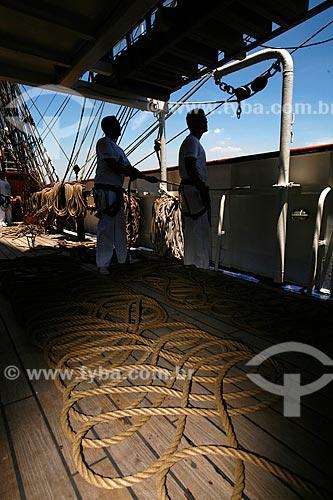 Assunto: Vista interna do Veleiro Cisne Branco - Marinha do Brasil / Local: Rio de Janeiro - RJ - Brasil  / Data: 01/2010