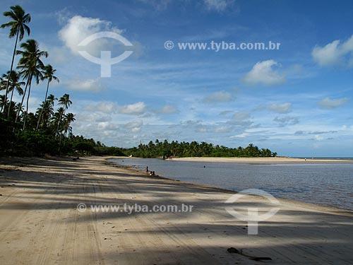 Assunto: Praia do Camacho - Foz do Rio Maragogi - Região da Costa dos Corais / Local: Maragogi - Alagoas (AL) - Brasil / Data: 03/2011