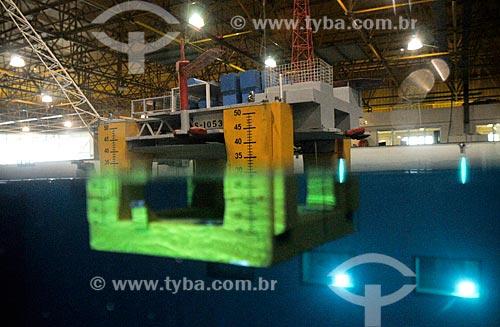Assunto: Maquete da plataforma da Petrobras P-51 - Tanque Oceânico da COPPE-URFJ / Local: Ilha do Fundão - Rio de Janeiro (RJ) - Brasil / Data: 03/2010
