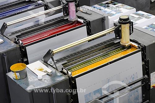 Assunto: Impressão de livro na indústria gráfica Ipsis / Local: São Paulo  (SP) - Brasil / Data: 08/2010