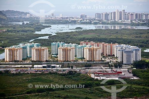 Assunto: Vista aérea da Vila Pan-Americana ou Vila do Pan - condomínio residencial / Local: Rio de Janeiro (RJ) - Brasil / Data: 03/2011