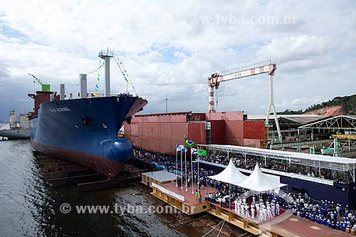Assunto: Batismo de navio cargueiro Jacarandá no estaleiro EISA / Local: Rio de Janeiro (RJ) - Brasil  / Data: 05/2010