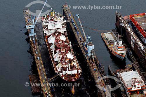 Assunto: Vista aérea de estaleiro Enavi & Renave / Local: Niterói - Rio de Janeiro (RJ) - Brasil  / Data: 01/2011