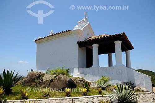Assunto: Capela Nossa Senhora da Guia, construída em 1740, localizada no Morro da Guia / Local: Cabo Frio - Rio de Janeiro (RJ) - Brasil  / Data: 12/2010
